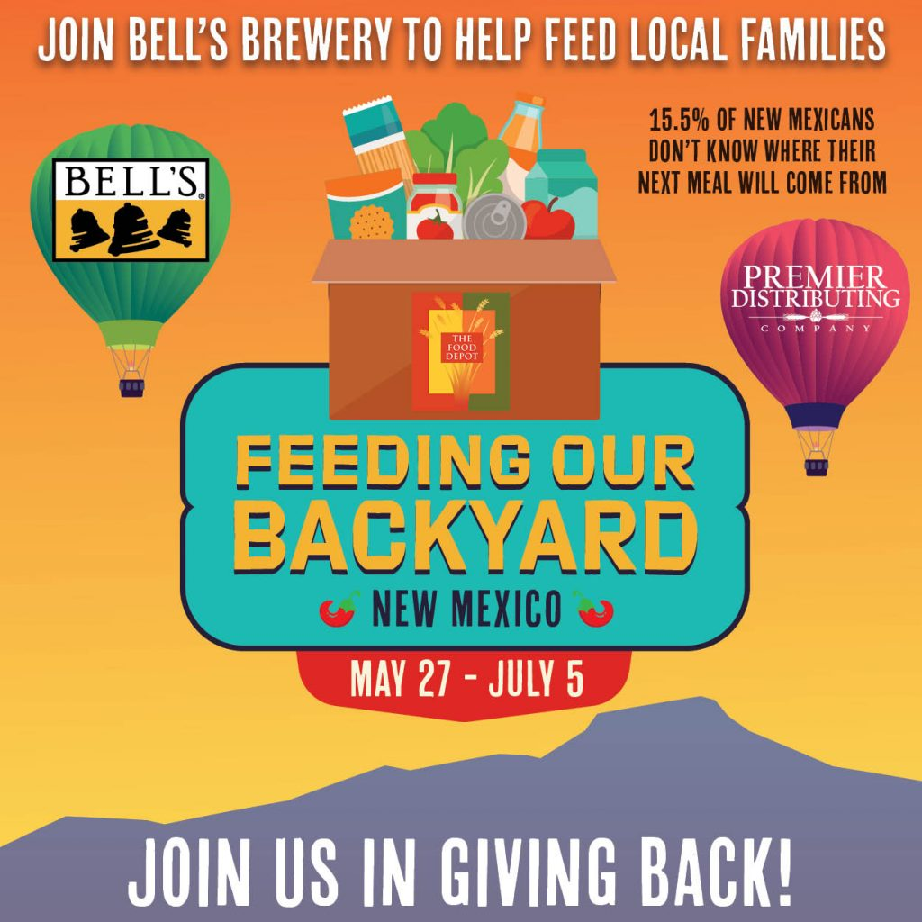 Bell's Brewery Feeding Our Backyard New Mexico